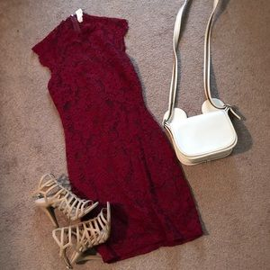 Windsor | Red Lace Dress